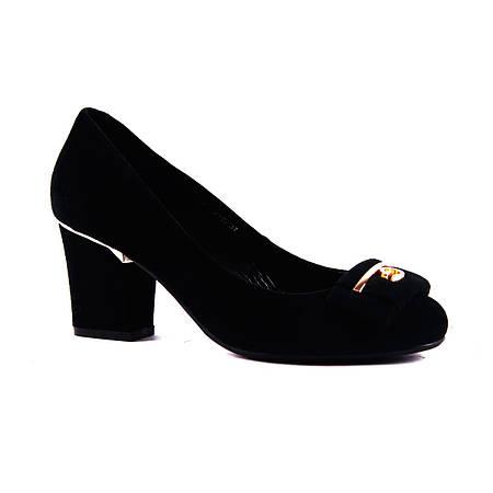 Туфли Reuchll замшевые на широком каблуке