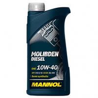 Моторное масло Mannol Molibden Diesel 10W40 1L