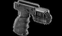 Рукоятка передняя с креплением и с кнопкой включения для фонаря FAB / Рукоятка тактическая черного цвета