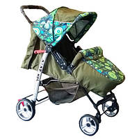 Trans Baby Прогулочная коляска Trans Baby Baby Car Olive / Green-Blue Abstraction (BaCar 12/CirclH)