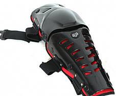 Мото защита коленей шарнирные Красные мото наколенники Fox Raptor, фото 3