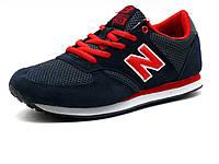 Кроссовки New Balance 420 унисекс, текстиль/ замша, темно-синие/ красные, фото 1