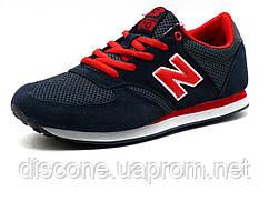 Кроссовки New Balance 420 унисекс, текстиль/ замша, темно-синие/ красные