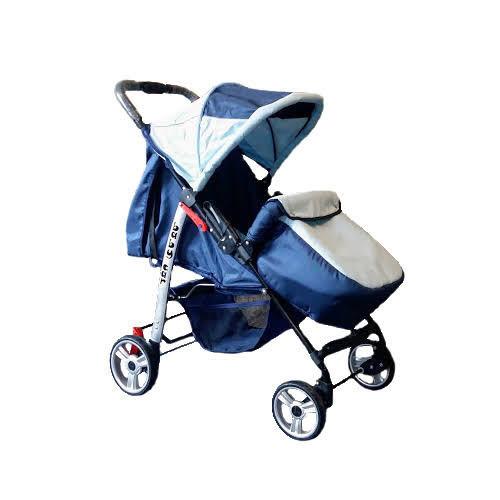 Trans Baby Прогулочная коляска Trans Baby Baby Car Dark Blue / Light blue (BaCar 13/03)
