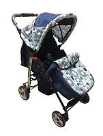 Trans Baby Прогулочная коляска Trans Baby Baby Car Dark Blue / Light blue Abstraction (BaCar 13/Cube A)