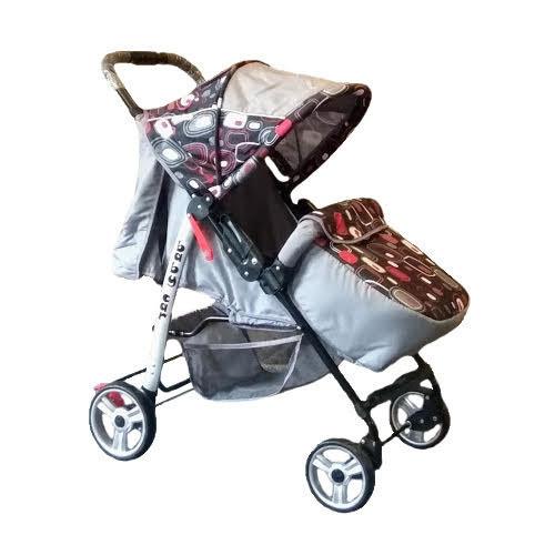 Trans Baby Прогулочная коляска Trans Baby Baby Car Grey / Black abstraction (BaCar 39/CJ)