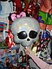Шар Monster High с бантиком,наполненный  гелием
