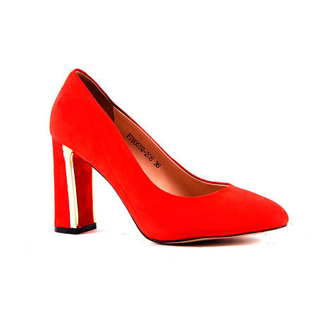 Туфли с высоким устойчивым каблуком