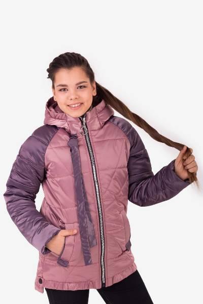 Детская  демисезонная куртка пыльная роза