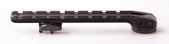 Крепление оптического прицела (F.Weaver Schiene) Picatinny на базы черного цвета