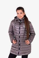 Демисезонная удлиненная куртка для девочек, фото 1
