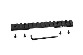 Планка Leupold Backcountry Cross-Slot Browning A-Bolt SA 1-pc Matte черного цвета