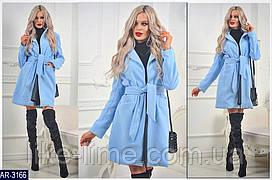 Женское стильное кашемировое пальто на запах
