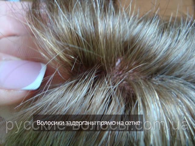 Парик система из натуральных волос.