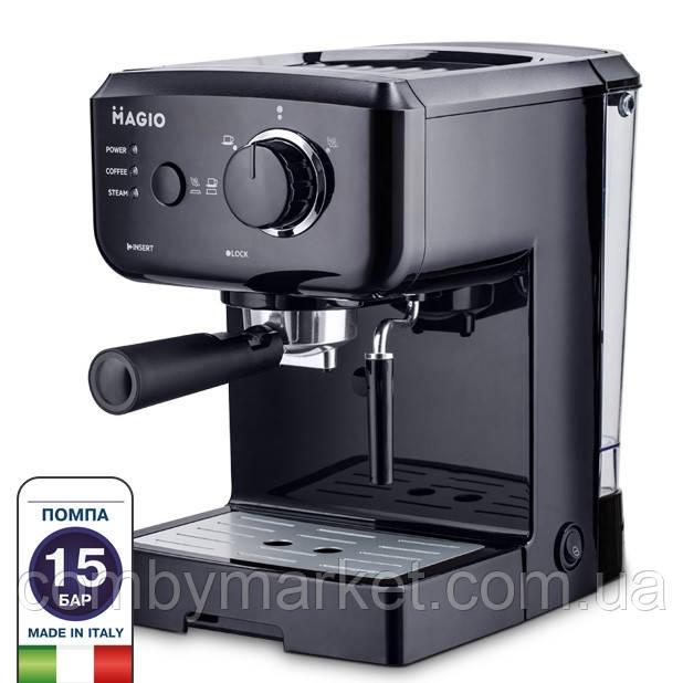 Кофеварка Magio MG-962, 1140 Вт, 15 бар, 1.25 л