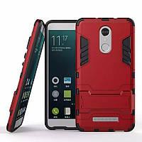 Чехол Iron для Xiaomi Redmi note 3 / note 3 pro бронированный Бампер Броня красный