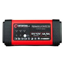 Зарядний пристрій 6/12В, 4/8A, 230В, LED-індикація INTERTOOL AT-3018