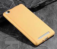 Чехол MAKAVO для Xiaomi Redmi 4a Бампер Матовый ультратонкий золотой