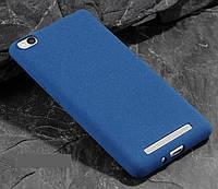 Чехол MAKAVO для Xiaomi Redmi 4a Бампер Матовый ультратонкий синий