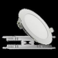 Светодиодный светильник встраиваемый (Slim), 12Вт, 850Лм, Круглый, Стекло, фото 1