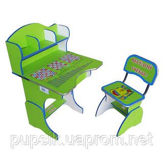 """Парта + стул E2878 GREEN """"Веселой учебы"""""""