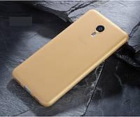 Чохол Makavo для Meizu M3 note Бампер ультратонкий gold