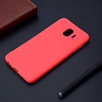 Чехол Style для Samsung Galaxy J4 2018 / J400F Бампер силиконовый красный