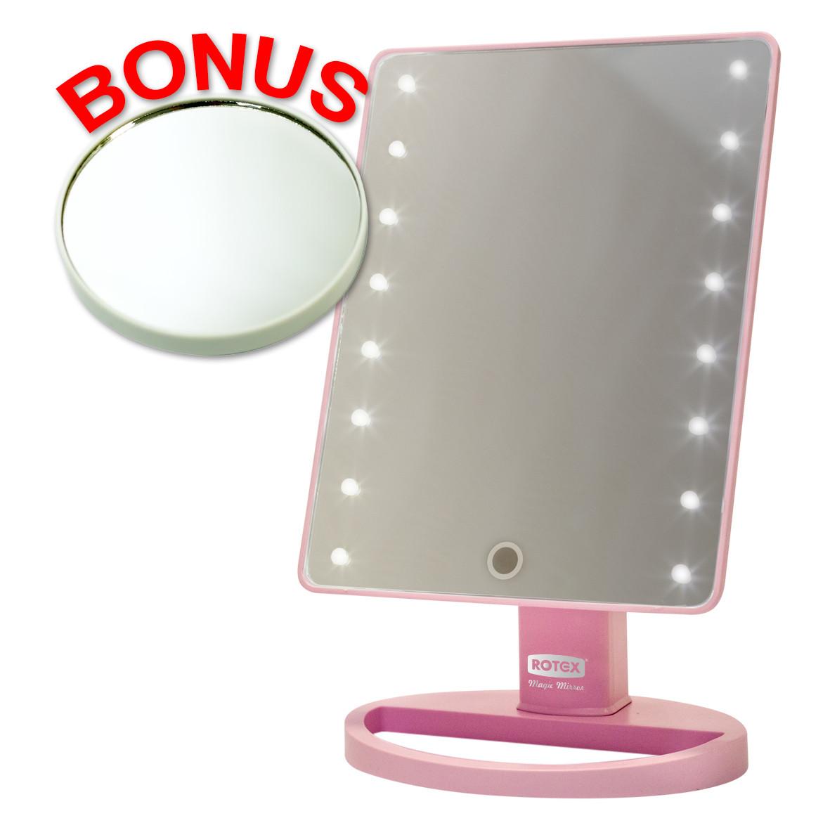 Зеркало для макияжа Rotex RHC25-P Magic Mirror с LED-подсветкой