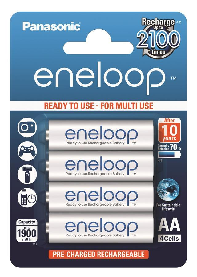 Акумулятор Panasonic Eneloop AA 1900 4BP mAh NI-MH 4шт