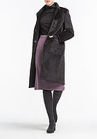 Пальто aLOT стеганное длинное 42 Черное 500063-42 796ced7a7ebc6