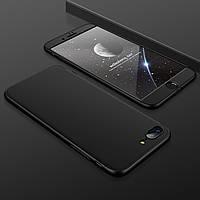 Чехол GKK 360 для Iphone 7 / Iphone 8 Бампер оригинальный без вырезa black