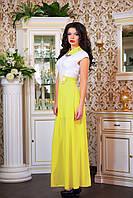 """Изящное платье длиной макси """"Цветочек"""", фото 1"""