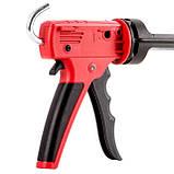 Пистолет для выдавливания силикона, усиленный пластик, 2 режима, аквастоп INTERTOOL HT-0028, фото 3