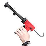 Пистолет для выдавливания силикона, усиленный пластик, 2 режима, аквастоп INTERTOOL HT-0028, фото 6