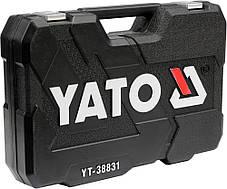 """Набір головок торц. до квадр. 1/4'', 3/8"""" 1/2'' з інстум-ми, комбін, ключів, викр. біт, 111 шт. [2], YT-38831 YATO, фото 3"""