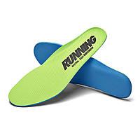 Стельки Running для спортивной обуви спортивные стельки для кроссовок салатовые 44