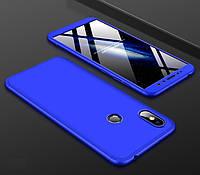 Чехол GKK 360 для Xiaomi Redmi S2 бампер оригинальный Blue