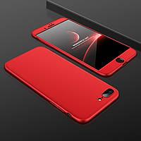 Чехол GKK 360 для Iphone 7 / Iphone 8 Бампер оригинальный без вырезa накладка Red