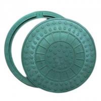 Люк  полимерпесчаный зеленый (1т) р.590/720