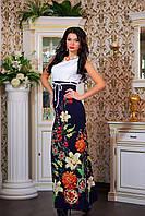 """Платье женское в пол на одно плечо """"Цветочный букет"""", фото 1"""