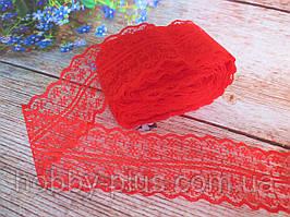 """Кружево """"Цветочек"""", 4,5 см, цвет красный"""