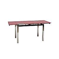 Стол раскладной стеклянный GD-017 красный
