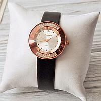Часы Guardo Glamour, коричневый ремешок, японский кварцевый механизм, кристаллы Swarovski