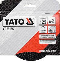 Диск-фреза шліфувальний по дереву, фарбі, шпаклівці, алюмінію, ?=125/22.2 мм, шорсткість №2, YT-59165 YATO, фото 3