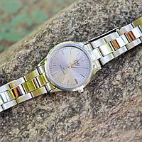 Часы Q&Q классик,серебристый циферблат, японский кварцевый механизм