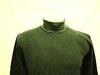 Джемпер гольф с начесом хлопок Army olive 46р, фото 1