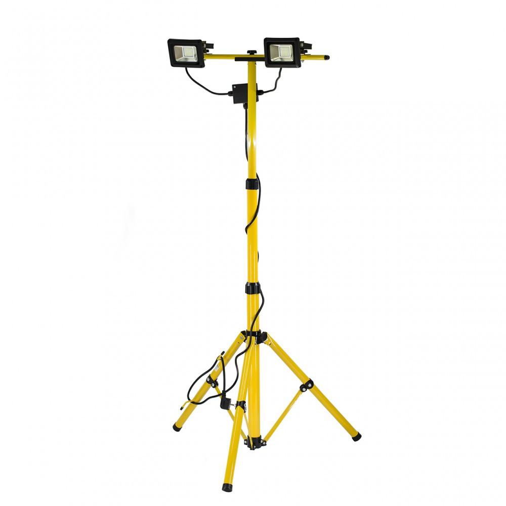 Прожектори 2 LED-діодні на штативі h= 0.7-1.7м мереж 230В, по 20 Вт, 1400Lm з кабел l= 3м, YT-81789 YATO