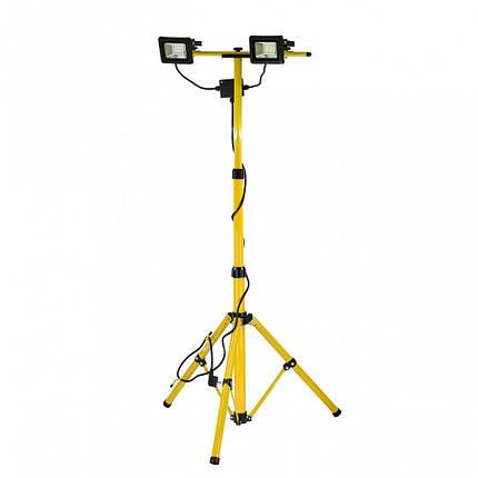 Прожектори 2 LED-діодні на штативі h= 0.7-1.7м мереж 230В, по 20 Вт, 1400Lm з кабел l= 3м, YT-81789 YATO, фото 2