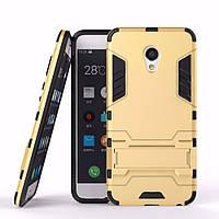 Чехол Iron для Meizu M5C бронированный Бампер Броня Gold