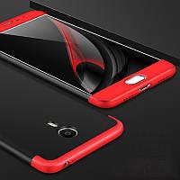 Чохол GKK 360 для Meizu M3 Note бампер оригінальний Black+Red